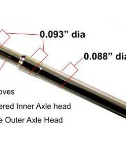 Titanium 2 Groove Axles