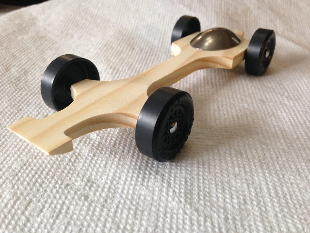 fast pinewood derby racing car with tungsten canopy pinewood derby