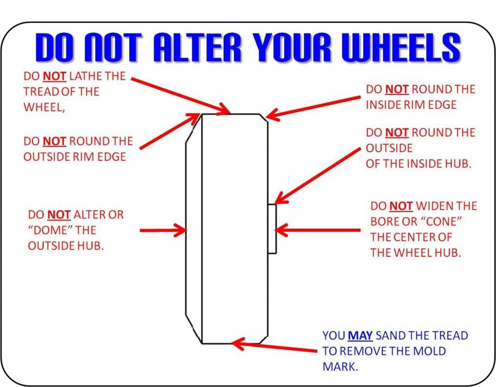 pinewood derby wheel rules