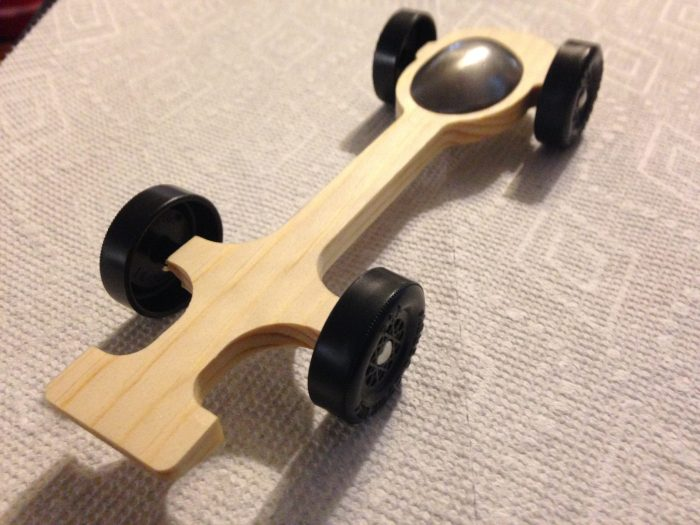 Ultralight Pinewood Derby Canopy Car