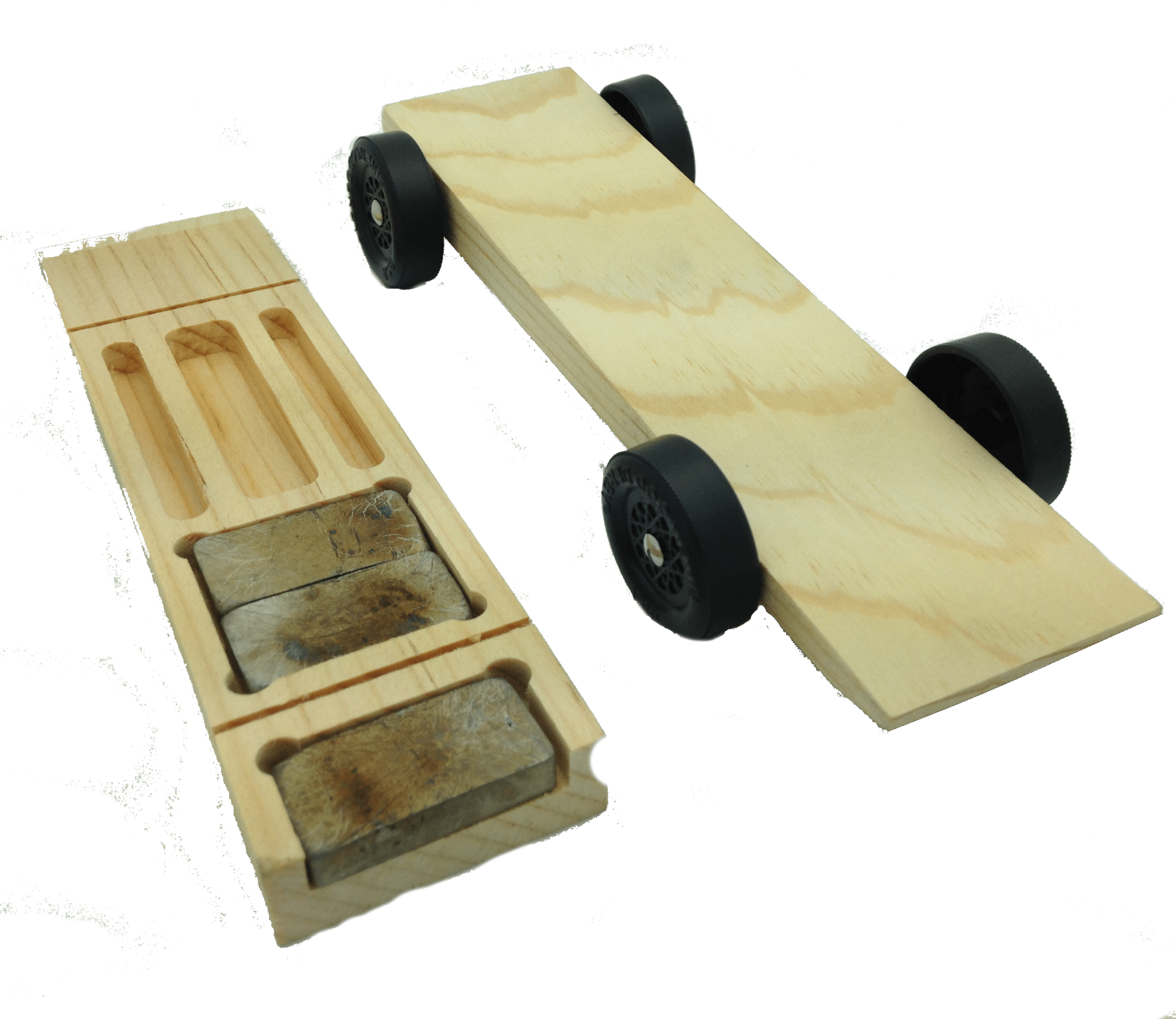 Pinewood Derby Center Rail Rider Car Kit