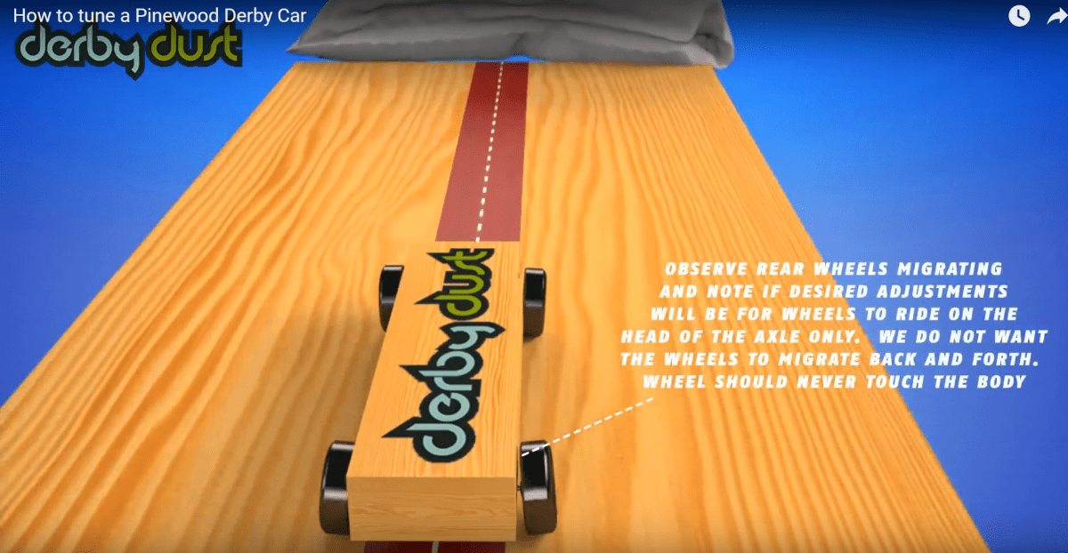 How to make a Center Rail Riding Pinewood Derby Car