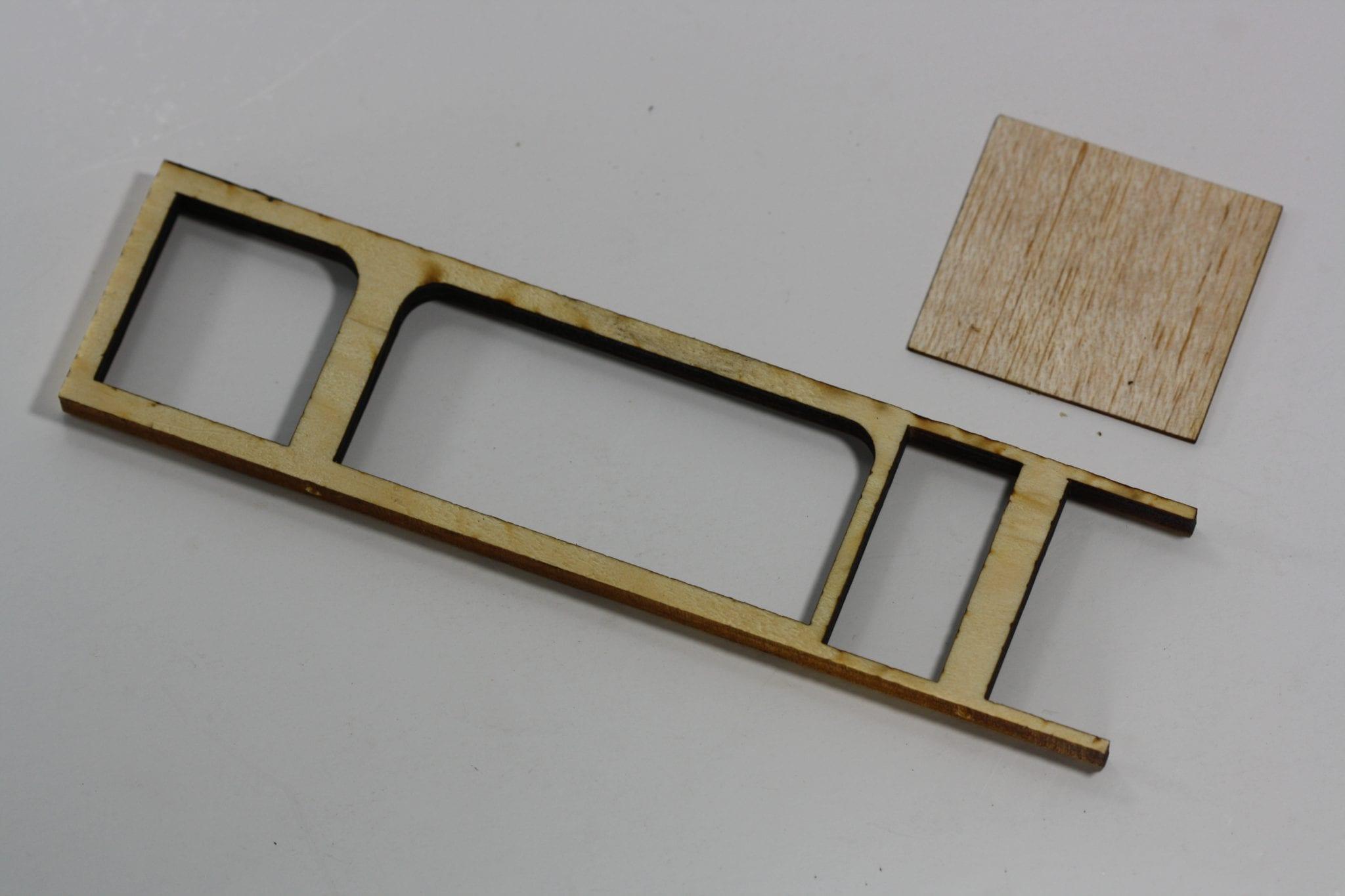 Pinewood Derby Ladder Car Body - B-Frame