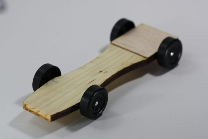 Pinewood Derby Ladder Car Body - Flathead