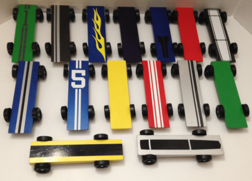 Pinewood Derby Pin Striping