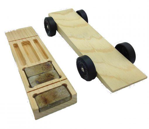 Pinewood Derby Car Kit - 5 Slot Wedge