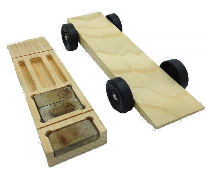 Pinewood Derby Car Kit - 5 Slot Wedge