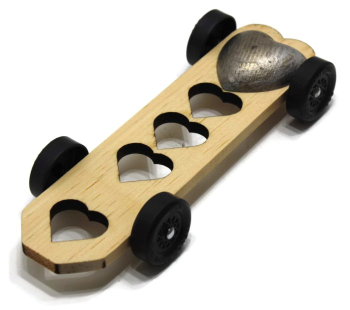 Pinewood Derby Car Kit - Heart Breaker