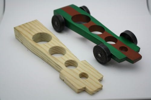 Aggressive COG 4 Hole Pinewood Derby Car Kit