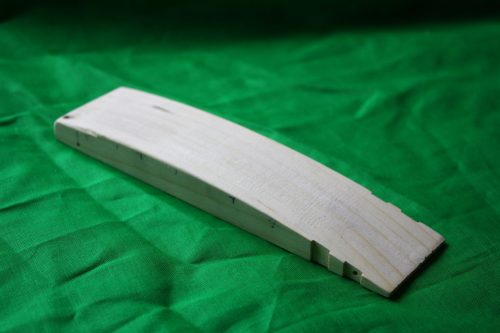 Pinewood Derby Car Body ONLY --- A Club Grand Prix 3-spoke Wheel Areo Wing Dovetail Bullet