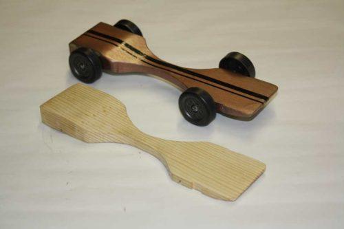 Pinewood Derby Car Body - Warped Physics