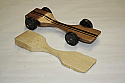 Pinewood Derby Car Body ONLY --- Warped Physics