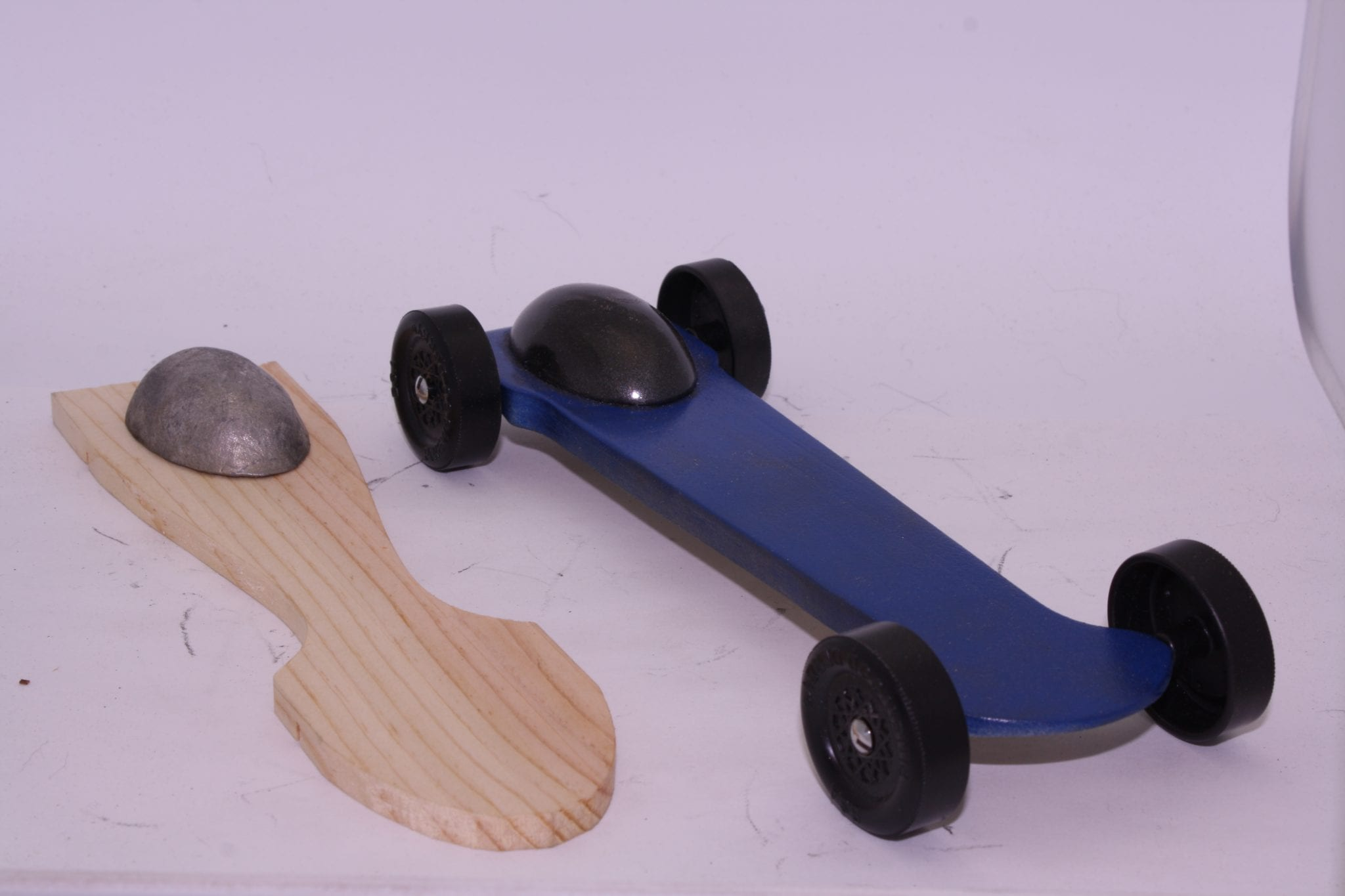 Complete Fast Pinewood Derby Car Kit Canopy Low Rider Derby Dust
