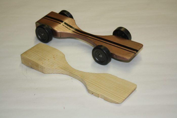 Fast Winning Pinewood derby car design warped physics